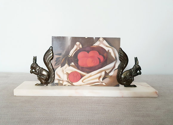 Squirrels Marble Photo Frame