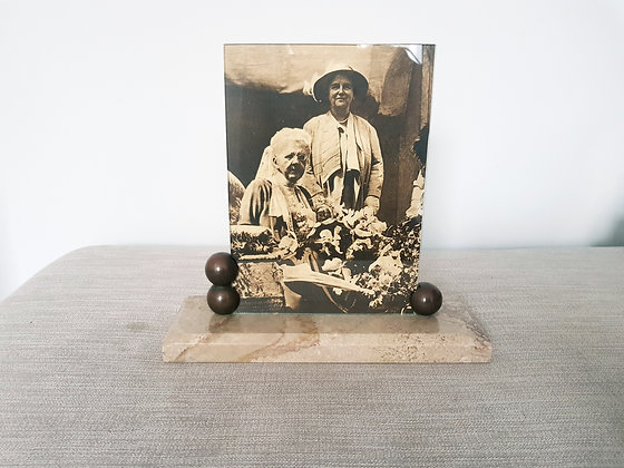 Bronze and Marble Photo Frame