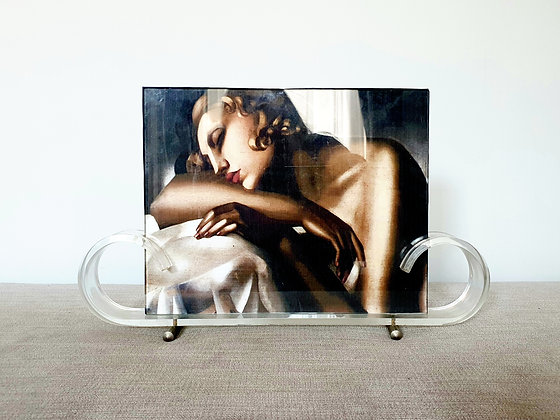 Curved Lucite Photo Frame