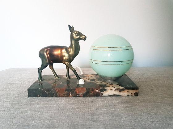 Spelter Deer Lamp