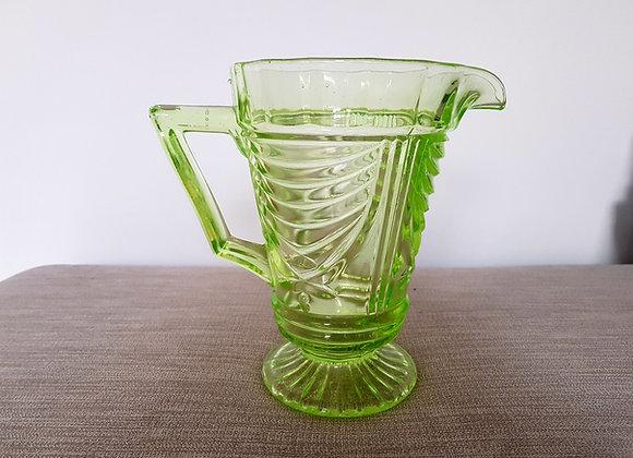 Sowerby Uranium Glass Jug