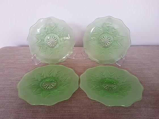 Set of 4 1930s Tea Plates