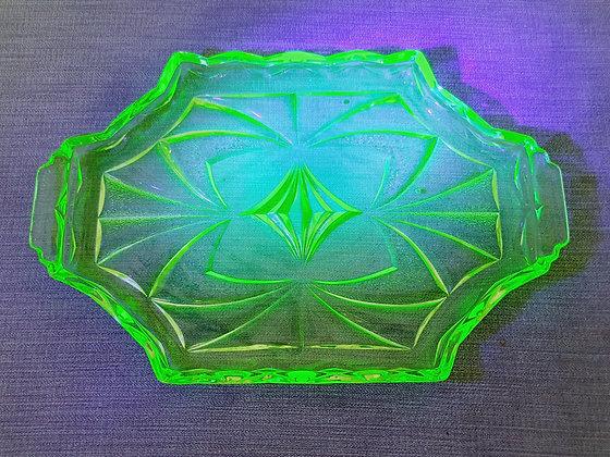 Uranium Glass Tray