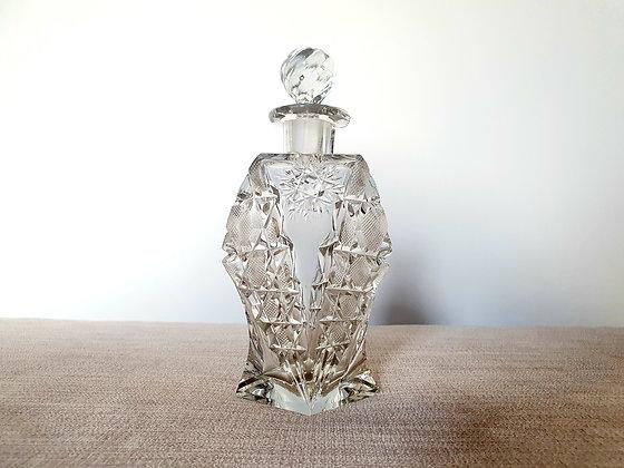 Large Cut Glass Perfume Bottle