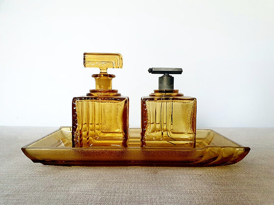 Walther & Sohne Ilse Glass Dressing Table Set