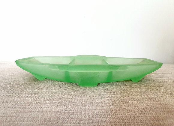 Art Deco Uranium Glass