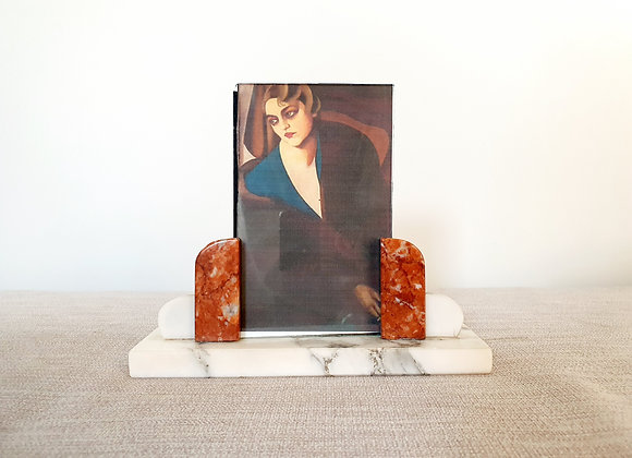 Art Deco Marble Photo Frame