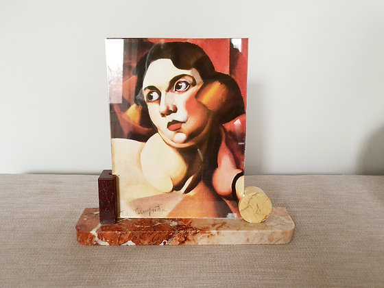 Red Marble Photo Frame