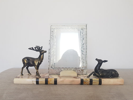 Stag & Deer Marble Photo Frame