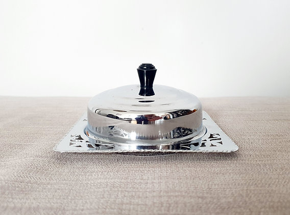 Chrome Plated Butter Dish