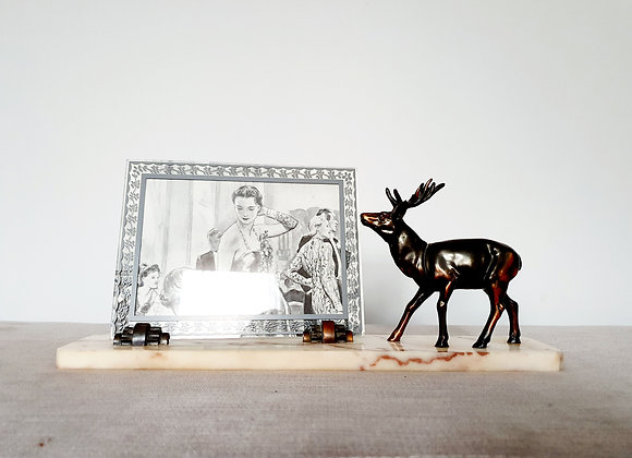 Stag Marble Photo Frame