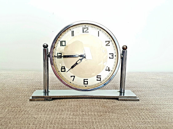 Chrome Winding Clock