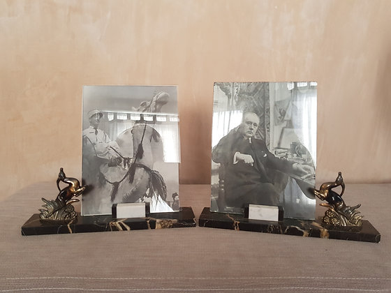 Pair of Leaping Gazelle Photo Frames