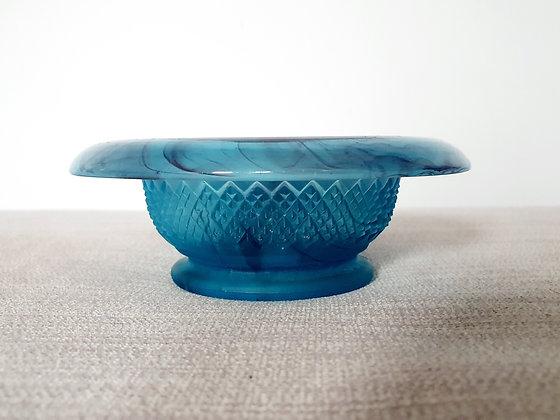 Davidson Blue Cloud Glass Posy Bowl