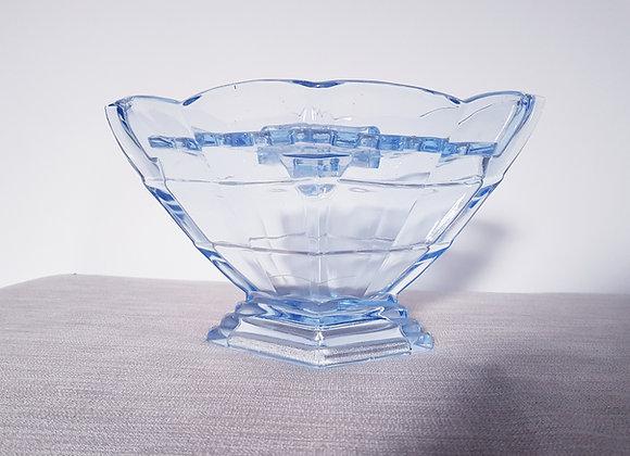 Blue Glass Vase & Frog
