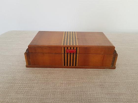 Wooden Box with Bakelite Handle
