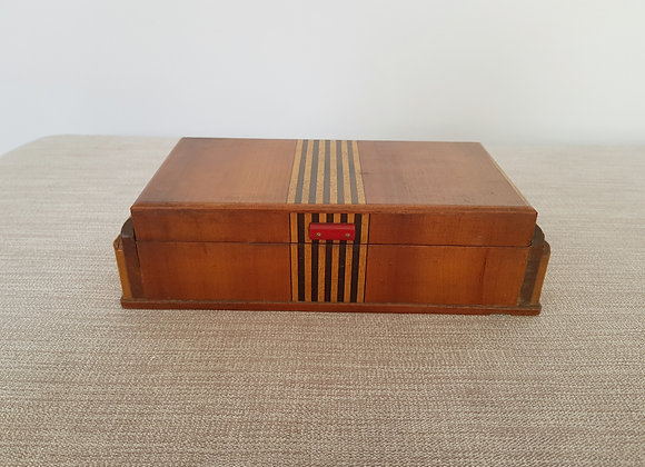Wooden Box with Bakelite Handle