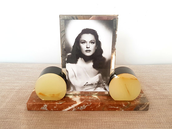 Marble and Onyx Photo Frame