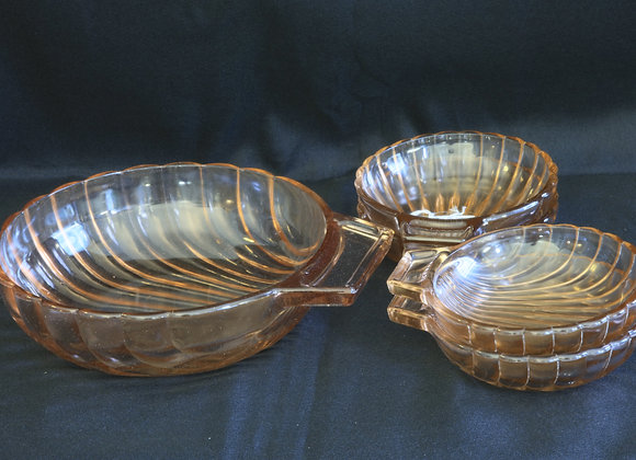 Set of 5 Glass Bowls