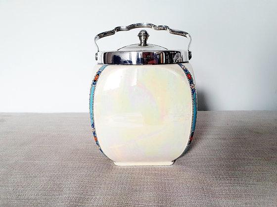 Hanley Silver Plated Biscuit Barrel