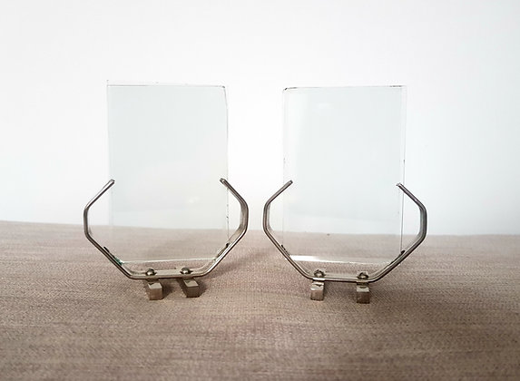 Pair of Chrome Plated Photo Frames