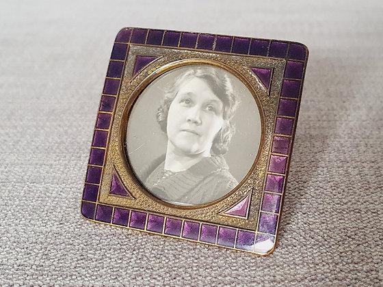 Miniature Purple Enamel Photo Frame