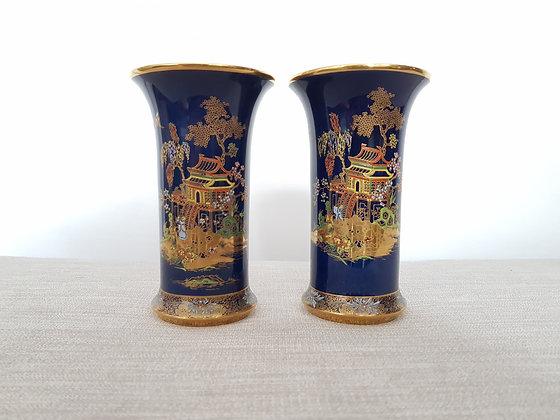 Pair of Carltonware Mikado Vases