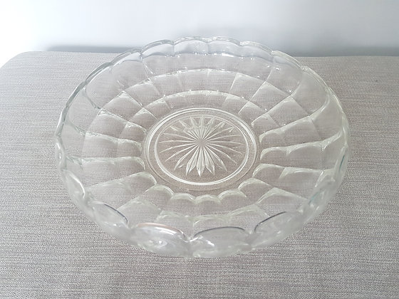 Large Glass Scalloped Bowl