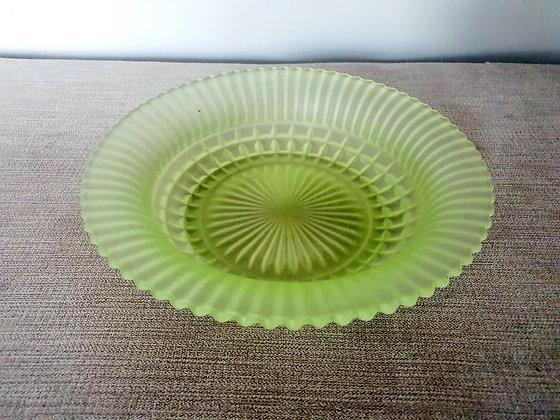 Art Deco Sowerby Uranium Glass Bowl UV Green 1930s for sale UK