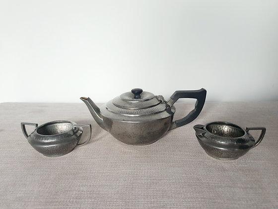 Argent Pewter Tea Set
