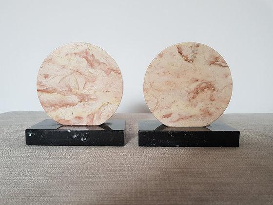 Circular Marble Bookends