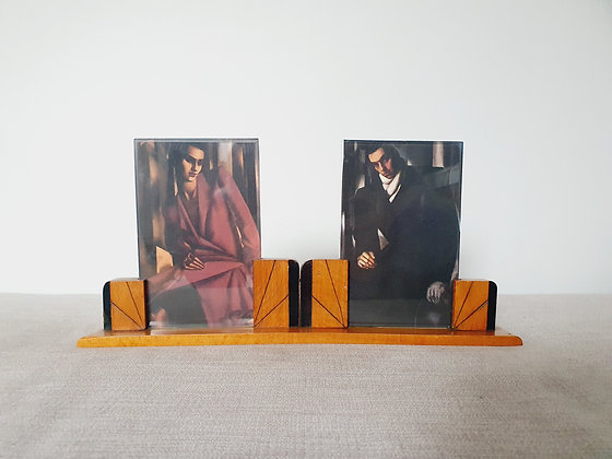 Double Wooden Photo Frame
