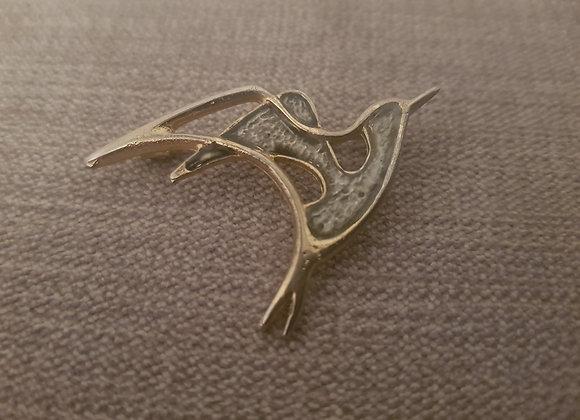 Enamel Stylised Bird Brooch