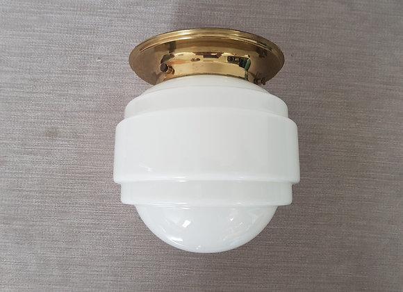 White Glass Ceiling Light