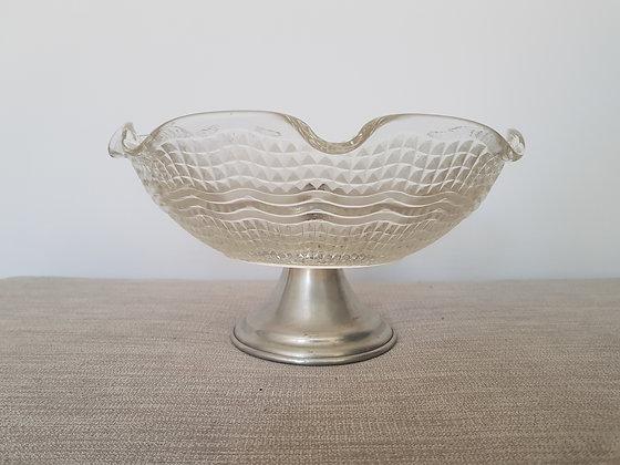 Glass & Chrome Bowl