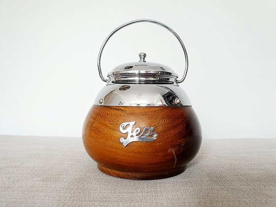 Rounded Wooden Tea Caddy