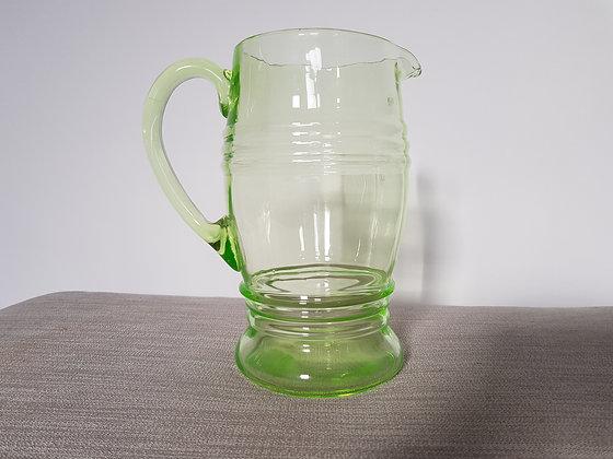 Uranium Glass Water Jug