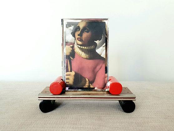 Red & Black Wooden Photo Frame