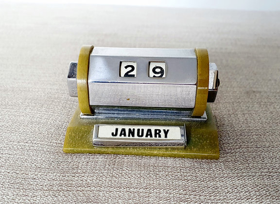 Chrome & Phenolic Perpetual Calendar