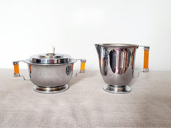 Art Deco Sugar Bowl & Milk Jug
