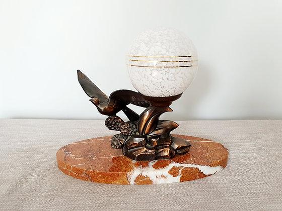 Limousin Spelter Bird Lamp