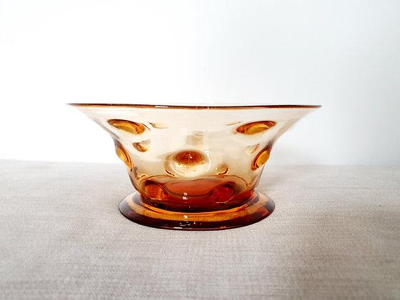 Thomas Webb Golden Amber Bowl