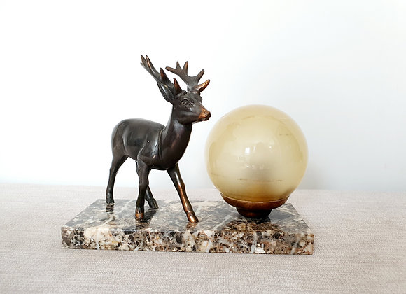 Stag Marble Lamp