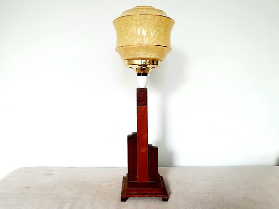 Wooden Stepped Lamp