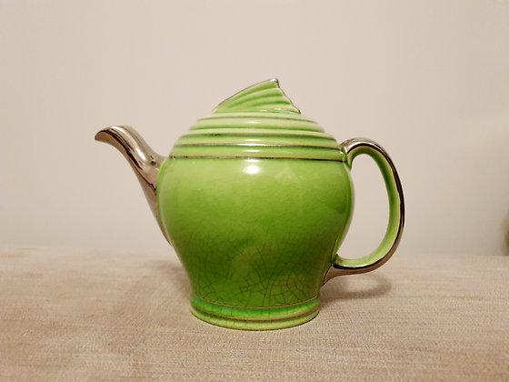 Faro Green & Silver Teapot