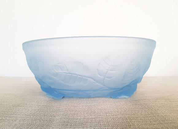 Jobling Blue Glass Roses Bowl
