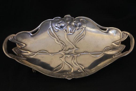 Art Nouveau Pewter Dish