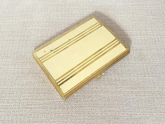 Yellow Enamel Compact Mirror