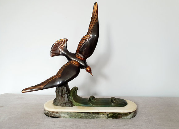 Swooping Seagull on Marble