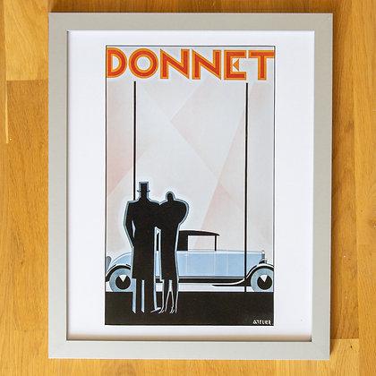 Donnet Vintage Car Framed Print